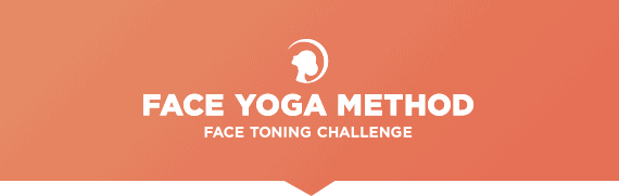 Face Yoga Method face toning challenge banner.