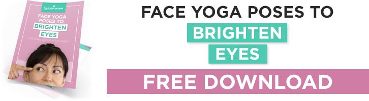 Face Yoga poses to brighten your eyes - banner