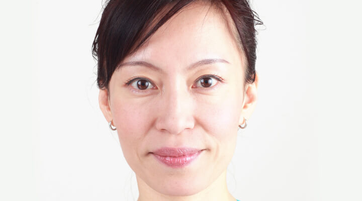 Fumiko Takatsu, the founder of Face Yoga Method - the close up photo.