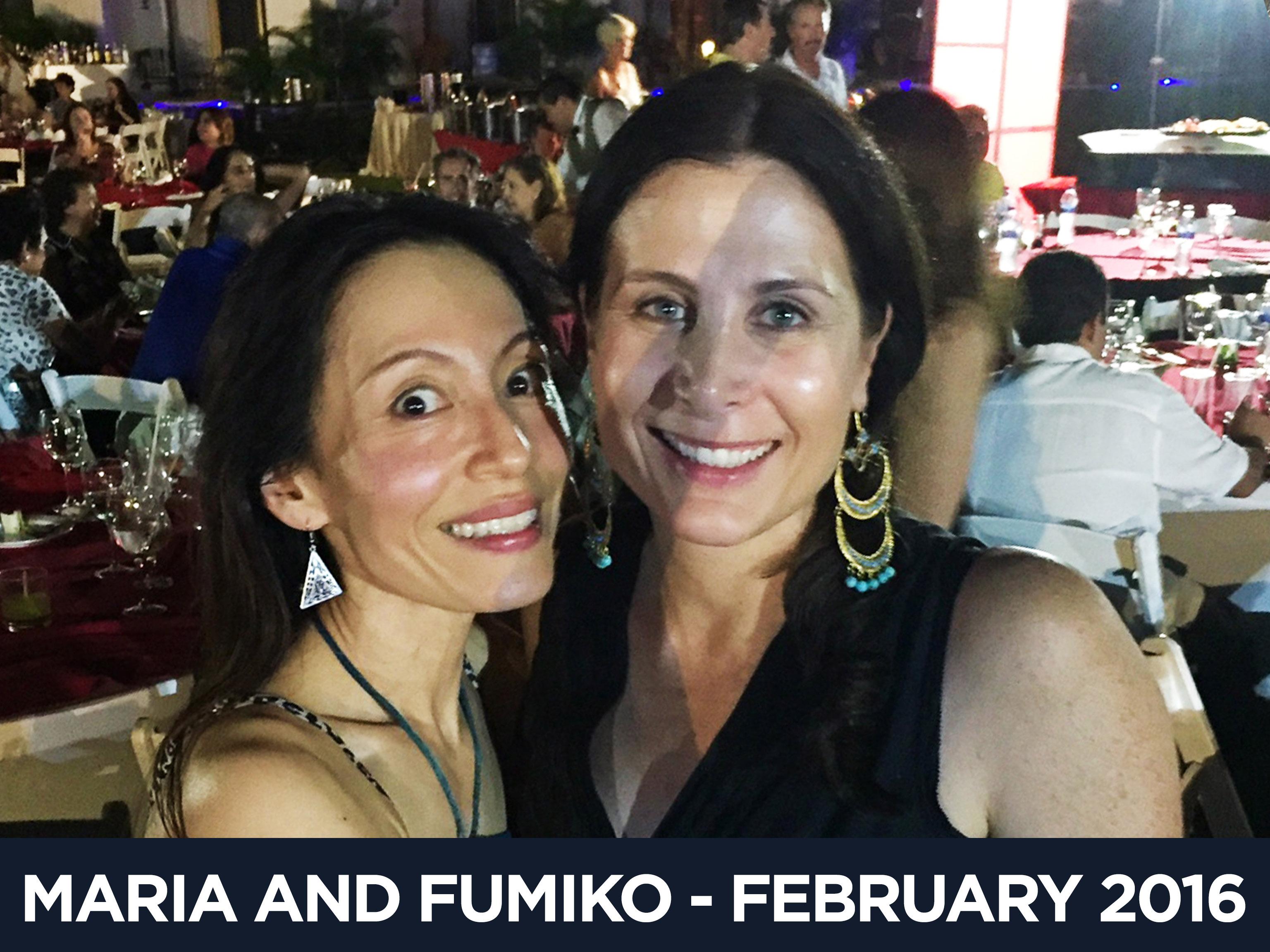 Maria and Fumiko February 2016