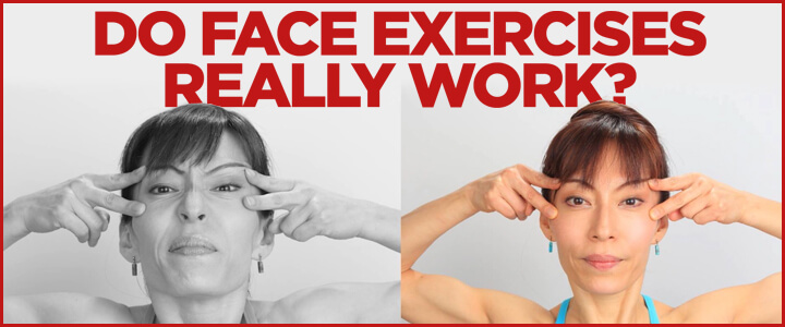Do face exercises really work - Fumiko Takatsu doing a Face Yoga exercise the right and the wrong way - comparison.