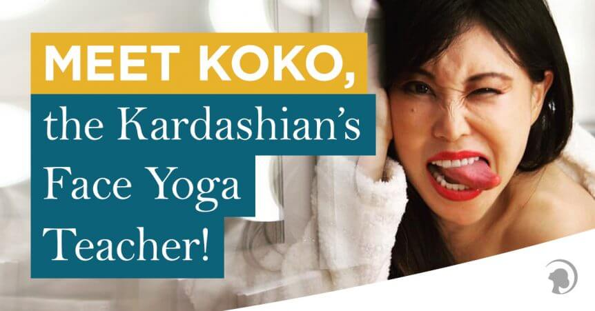 Photo of Koko Hayashi, a Face Yoga Teacher.