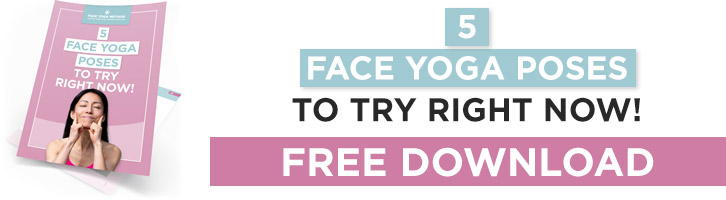 5 Face Yoga Poses banner for a free ebook