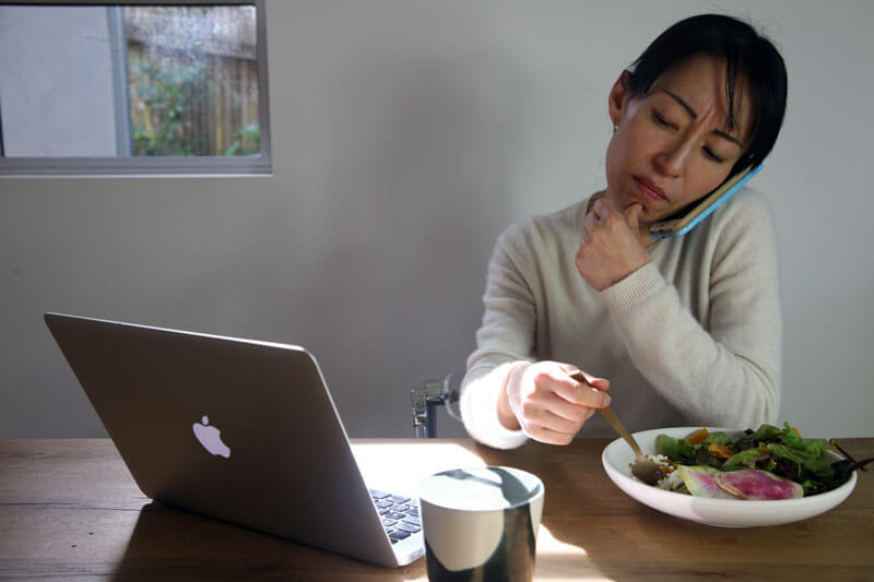 Fumiko Having a Salad