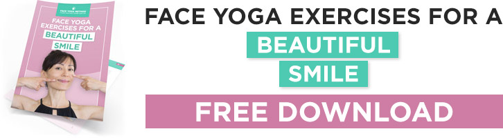 Face Yoga For a Beautiful Smile banner.