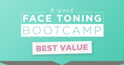 Face Yoga Method 6 week bootcamp green poster.