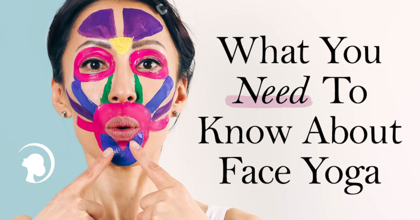 What you need to know about face yoga - banner with Fumiko Takatsu on it.