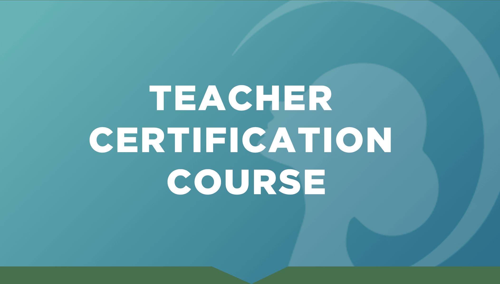 Face Yoga Method Teacher Certification Course blue poster.