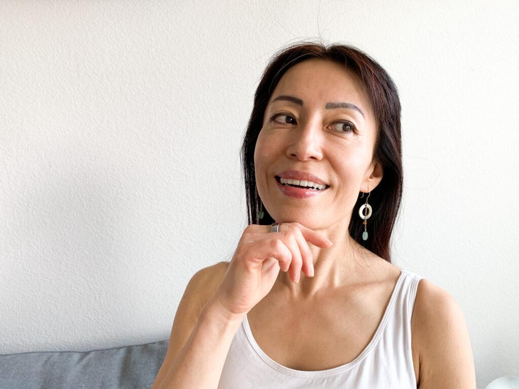 Fumiko Takatsu smiling.